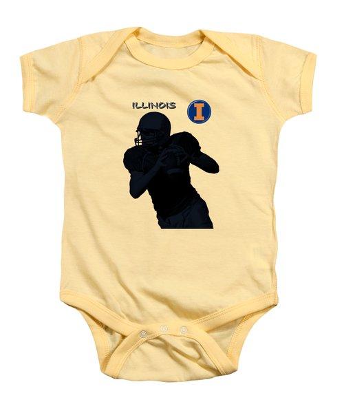 Illinois Football Baby Onesie by David Dehner