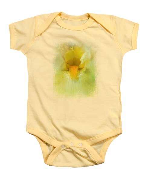 Iris In Lime Baby Onesie by Jai Johnson