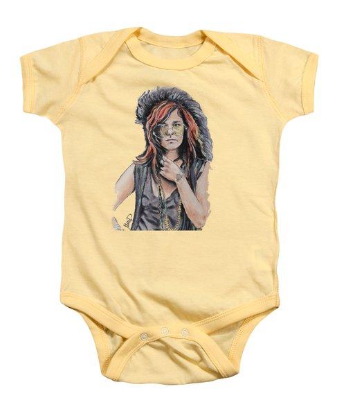 Janis Joplin Baby Onesie by Melanie D