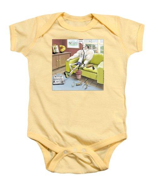 Jim - Leg Day Baby Onesie by Kris Burton-Shea