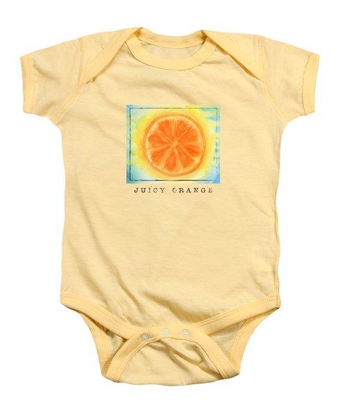 Juicy Orange Baby Onesie by Kathleen Wong