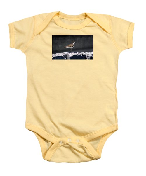 Killdeer Baby Onesie by M Images Fine Art Photography and Artwork