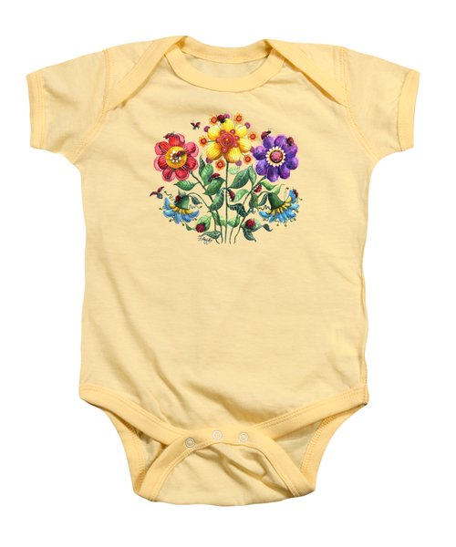 Ladybug Playground Baby Onesie by Shelley Wallace Ylst