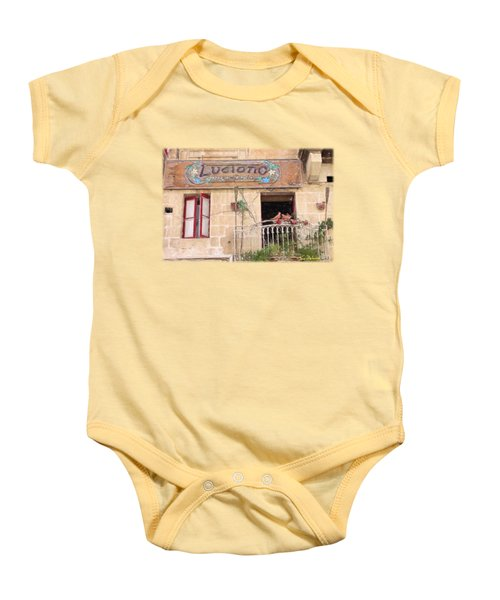 Luciano's Pizza Baby Onesie by Jon Delorme
