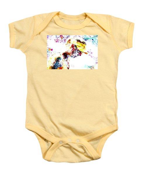 Maria Sharapova Paint Splatter 4p                 Baby Onesie by Brian Reaves