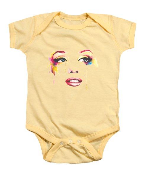 Marilyn T-shirt Baby Onesie by Herb Strobino