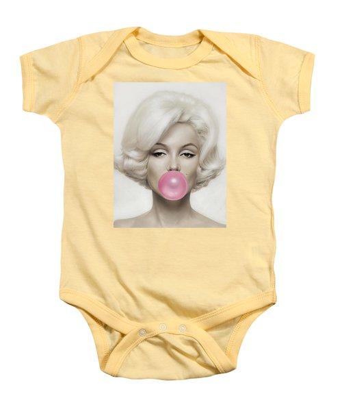 Marilyn Monroe Baby Onesie by Vitor Costa