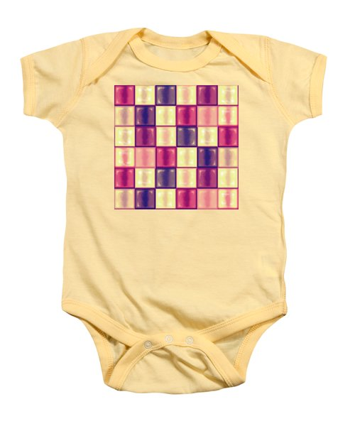 Marsala Ceramic Tiles - Square Baby Onesie by Shelly Weingart