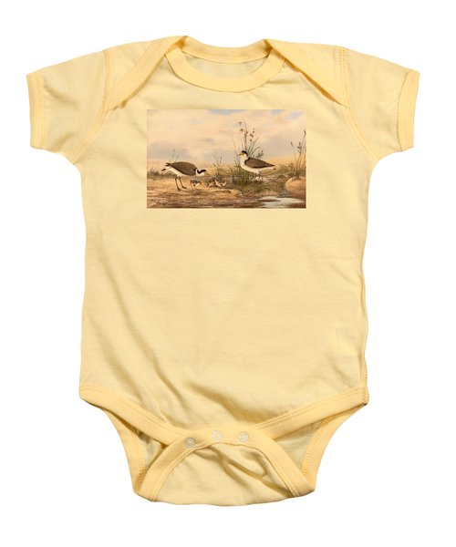 Masked Lapwing Baby Onesie by Mountain Dreams
