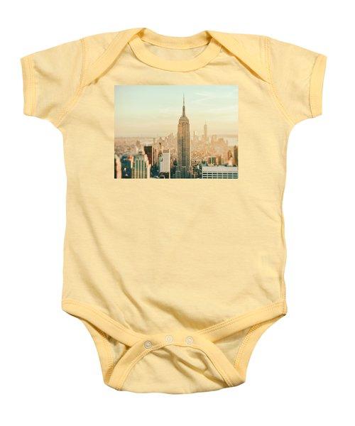 New York City - Skyline Dream Baby Onesie by Vivienne Gucwa