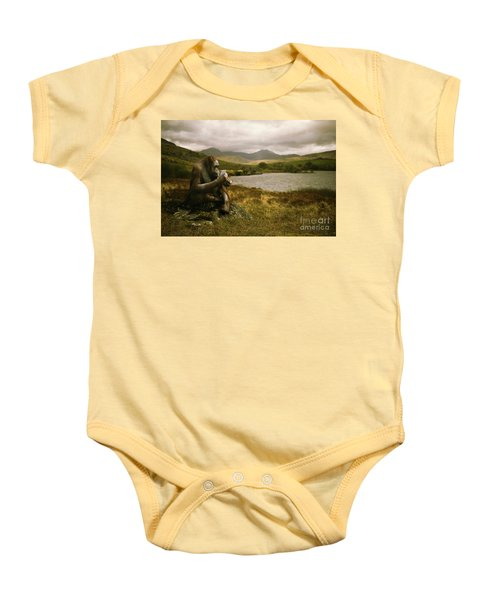 Orangutan With Smart Phone Baby Onesie by Amanda Elwell