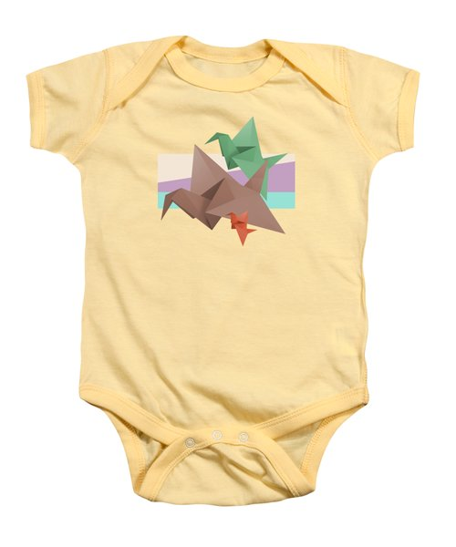 Paper Cranes Baby Onesie by Absentis Designs