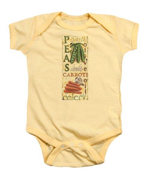 Pea Soup Baby Onesie by Debbie DeWitt