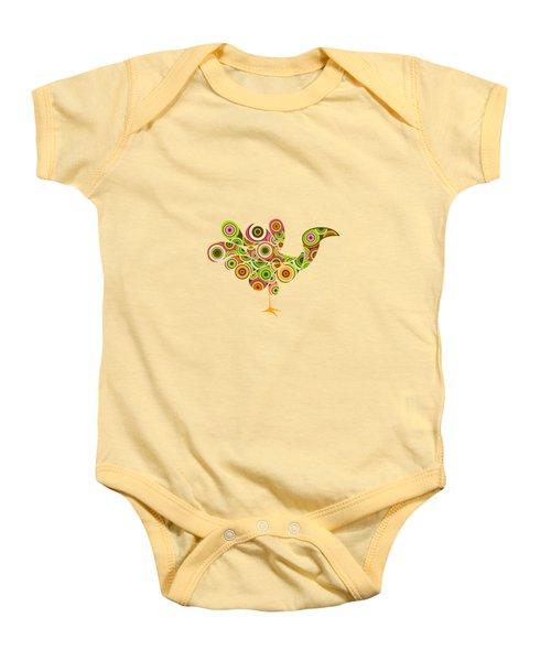 Peafowl Baby Onesie by Bekare Creative