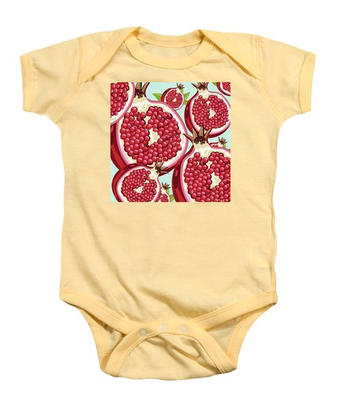 Pomegranate   Baby Onesie by Mark Ashkenazi