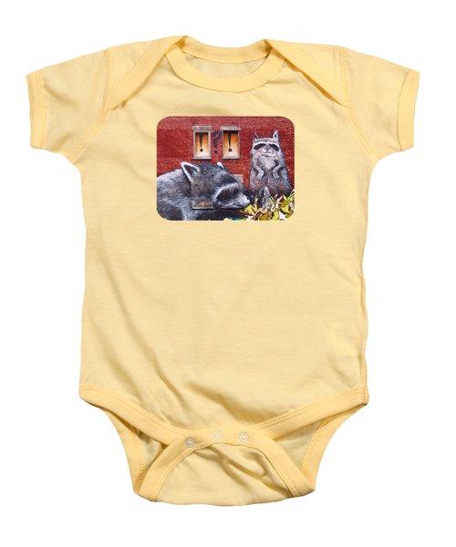 Raccoons Baby Onesie by Ethna Gillespie