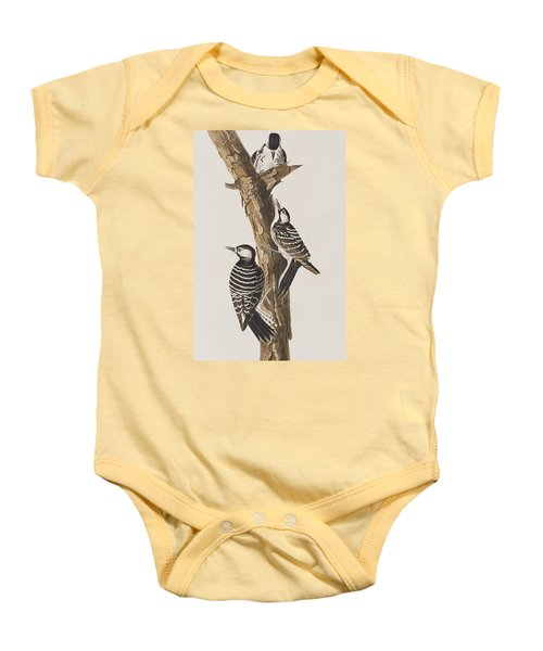 Red-cockaded Woodpecker Baby Onesie by John James Audubon