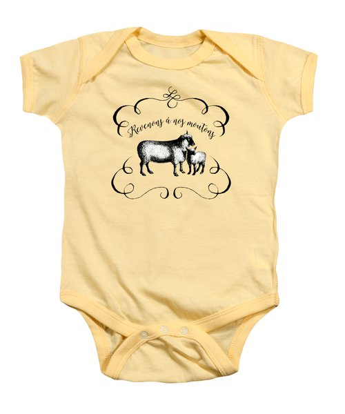 Revenons A Nos Moutons Baby Onesie by Antique Images