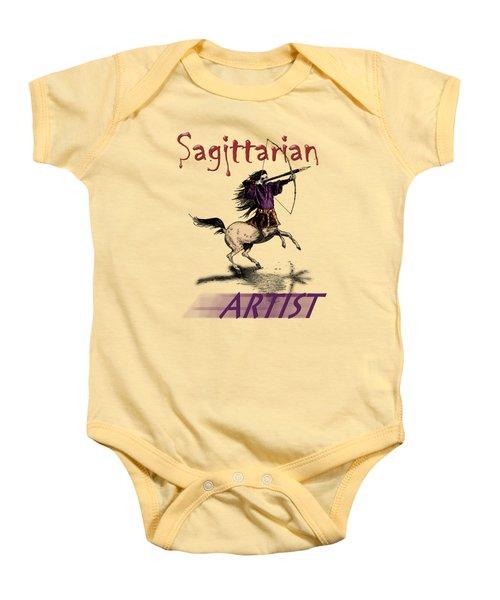 Sagittarian Artist Baby Onesie by Joseph Juvenal
