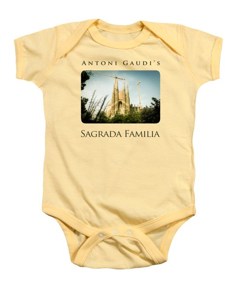 Sagrada Familia With Catalonia's Flag Baby Onesie by Alejandro Ascanio
