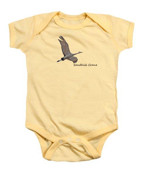 Sandhill Crane In Flight Baby Onesie by Whispering Peaks Photography
