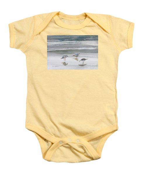 Sandpipers Baby Onesie by Julianne Felton