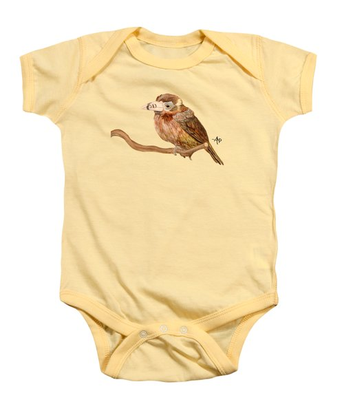Spot-billed Toucanet Baby Onesie by Angeles M Pomata