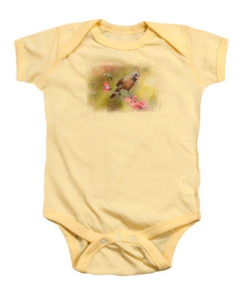 Spring Cardinal 1 Baby Onesie by Jai Johnson