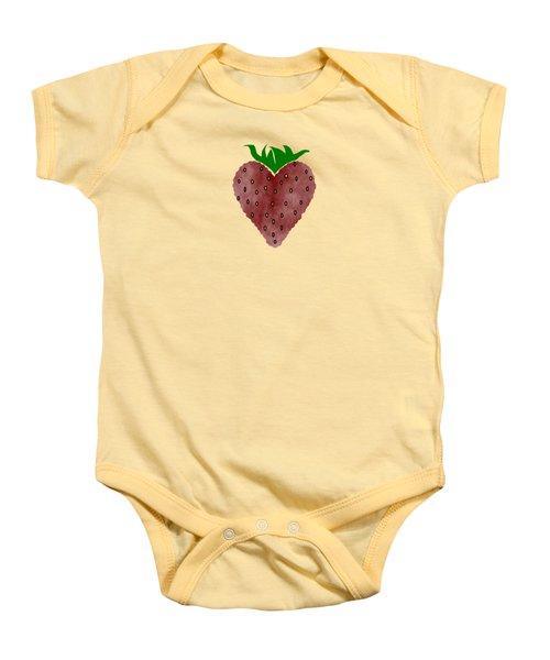 Strawberries Baby Onesie by Kathleen Sartoris