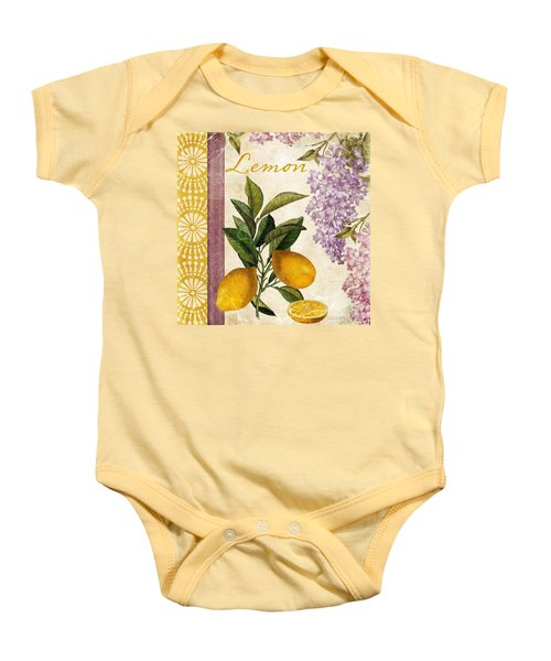 Summer Citrus Lemon Baby Onesie by Mindy Sommers