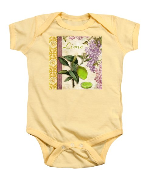 Summer Citrus Lime Baby Onesie by Mindy Sommers