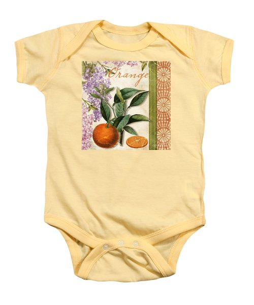 Summer Citrus Orange Baby Onesie by Mindy Sommers