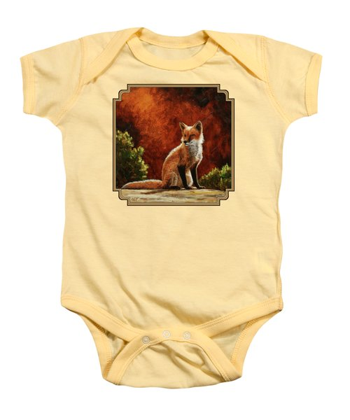 Sun Fox Baby Onesie by Crista Forest