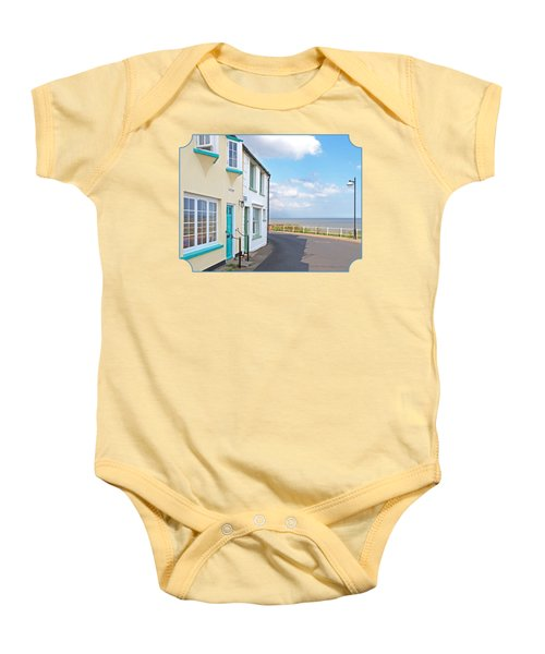 Sunny Outlook - Southwold Seafront Baby Onesie by Gill Billington