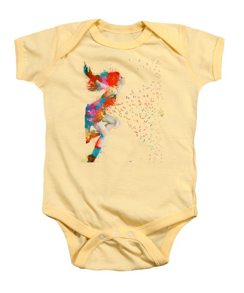 Sweet Jenny Bursting With Music Baby Onesie by Nikki Smith