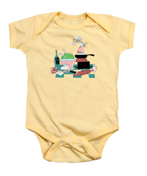 The Hungry Mouse Baby Onesie by Little Bunny Sunshine