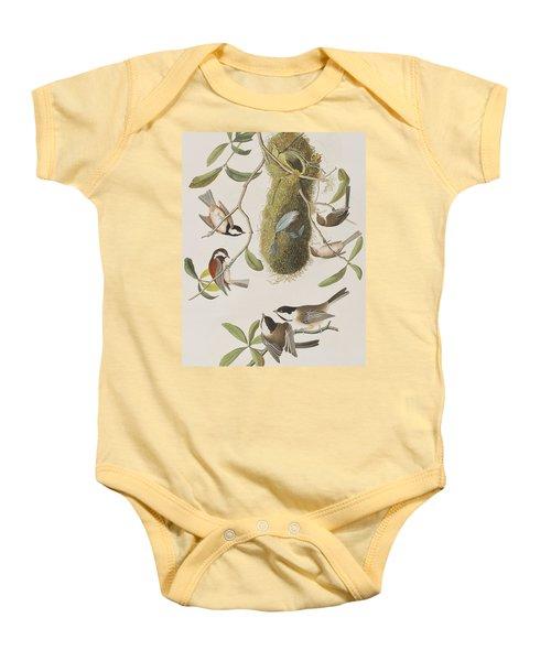 Titmouses Baby Onesie by John James Audubon