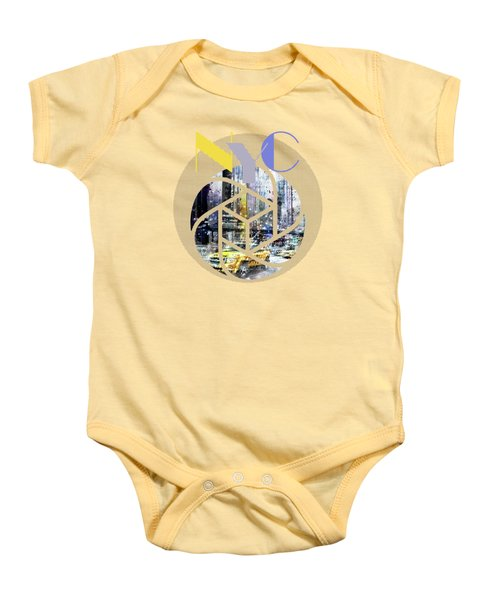 Trendy Design New York City Geometric Mix No 3 Baby Onesie by Melanie Viola