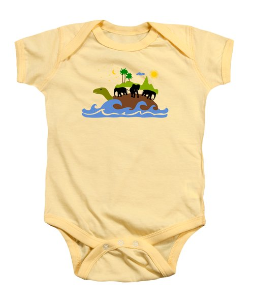 Turtles All The Way Down Baby Onesie by Anastasiya Malakhova
