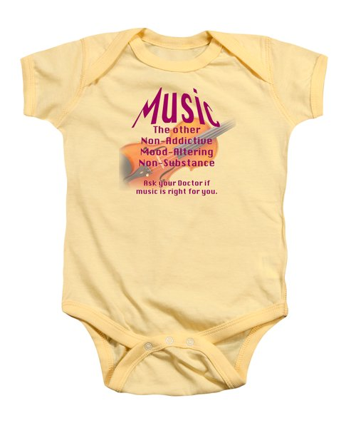 Violin Or Viola Music Is Right For You 5499.02 Baby Onesie by M K  Miller