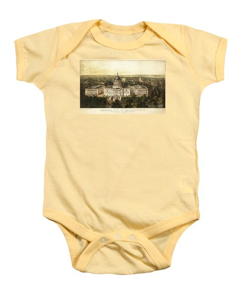 Washington City 1857 Baby Onesie by Jon Neidert
