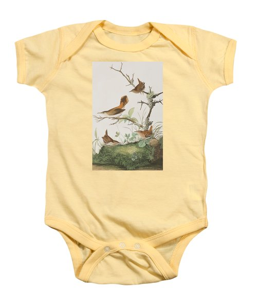 Winter Wren Or Rock Wren Baby Onesie by John James Audubon