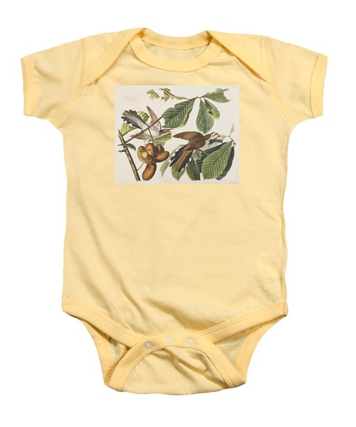 Yellow Billed Cuckoo Baby Onesie by John James Audubon