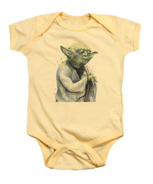 Yoda Portrait Baby Onesie by Olga Shvartsur