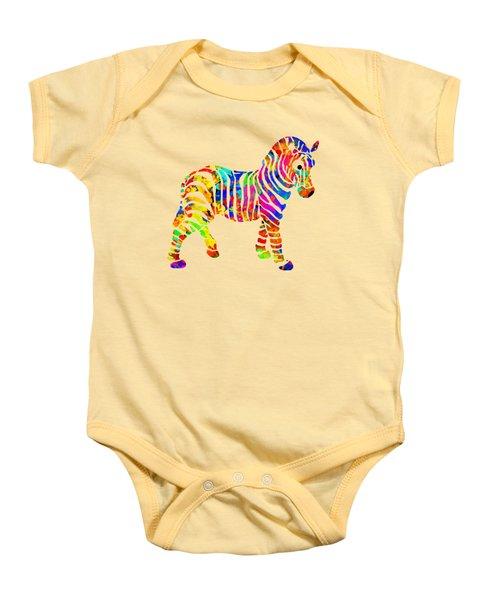 Zebra Baby Onesie by Christina Rollo