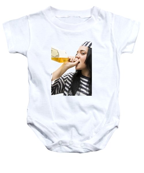 Drinking Detainee Baby Onesie by Jorgo Photography - Wall Art Gallery