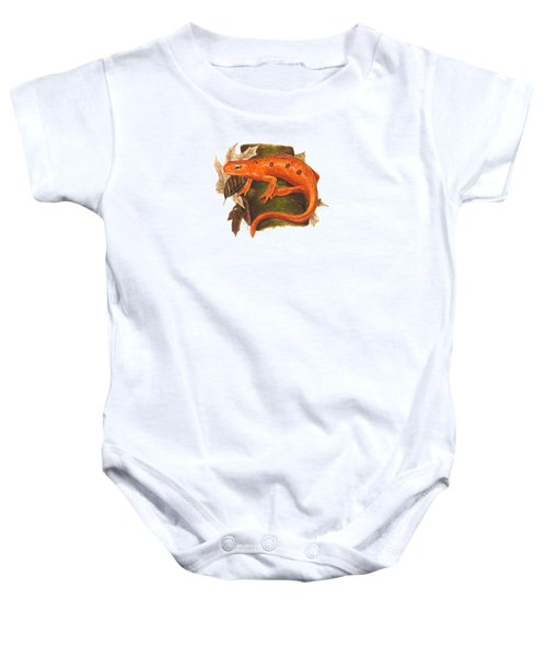 Red Eft Baby Onesie by Cindy Hitchcock