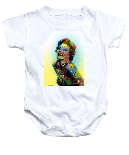 Marilyn Monroe Baby Onesie by Mark Ashkenazi