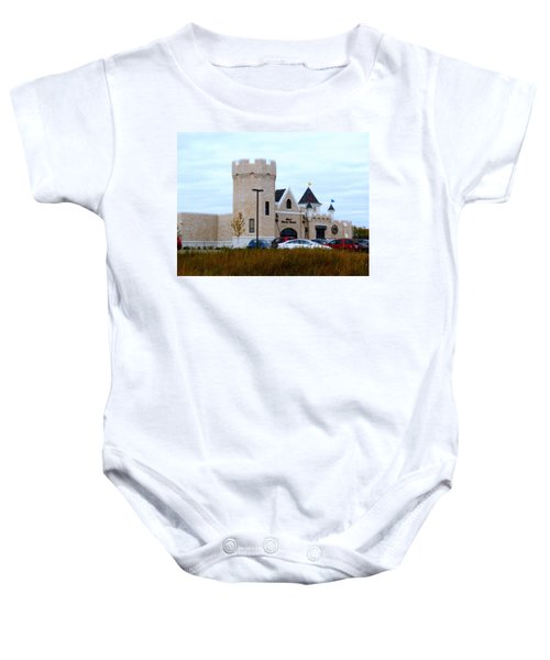 A Cheese Castle Baby Onesie by Kay Novy