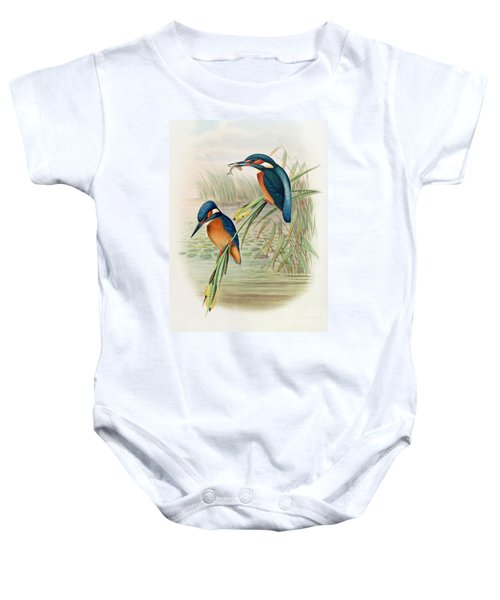 Alcedo Ispida Plate From The Birds Of Great Britain By John Gould Baby Onesie by John Gould William Hart